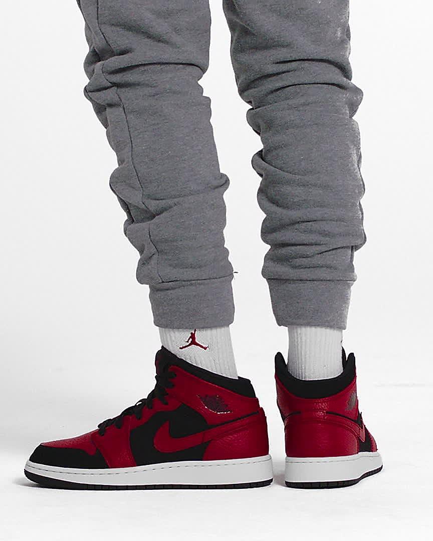Air Jordan 1 Mid Big Kids' Shoes. Nike JP