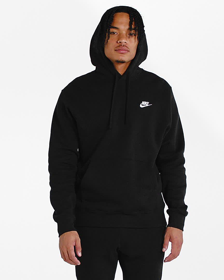 nike fleece grey hoodie