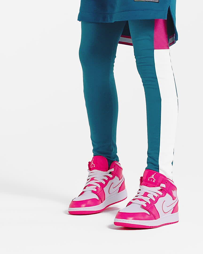 Jordan Nike Kids Air 1 MID Basketball Shoe GS