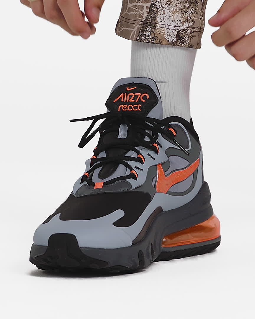 air max 270 react grey orange