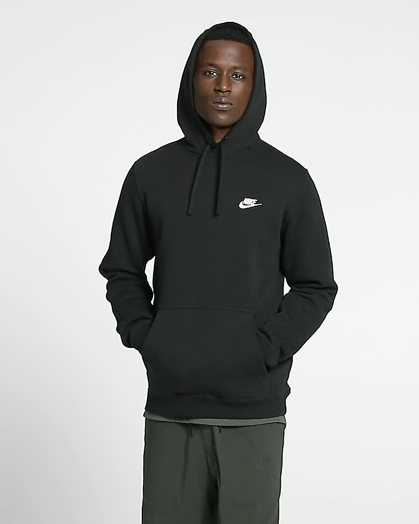 MENS NIKE NSW HOODIE PULLOVER JERSEY CLUB TOP