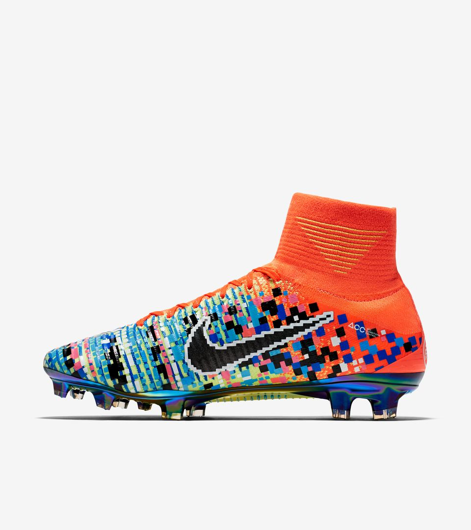 quality design 31fe6 aeebe Nike Mercurial X Proximo II TF ACC MD Football Shoes Soccers Black Blue Lace